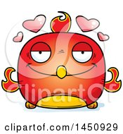 Clipart Graphic Of A Cartoon Loving Phoenix Character Mascot Royalty Free Vector Illustration by Cory Thoman