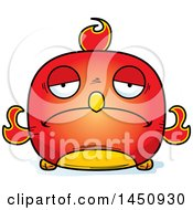 Clipart Graphic Of A Cartoon Sad Phoenix Character Mascot Royalty Free Vector Illustration by Cory Thoman