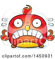 Clipart Graphic Of A Cartoon Scared Phoenix Character Mascot Royalty Free Vector Illustration by Cory Thoman