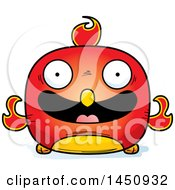 Clipart Graphic Of A Cartoon Happy Phoenix Character Mascot Royalty Free Vector Illustration