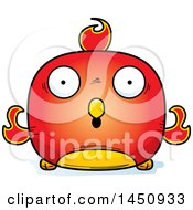 Clipart Graphic Of A Cartoon Surprised Phoenix Character Mascot Royalty Free Vector Illustration by Cory Thoman