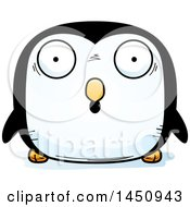 Clipart Graphic Of A Cartoon Surprised Penguin Bird Character Mascot Royalty Free Vector Illustration