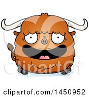 Clipart Graphic Of A Cartoon Happy Ox Character Mascot Royalty Free Vector Illustration