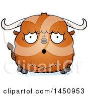 Cartoon Surprised Ox Character Mascot