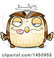 Clipart Graphic Of A Cartoon Drunk Owl Character Mascot Royalty Free Vector Illustration by Cory Thoman