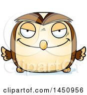 Clipart Graphic Of A Cartoon Evil Owl Character Mascot Royalty Free Vector Illustration by Cory Thoman