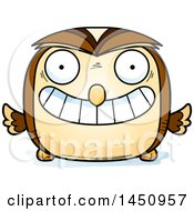 Clipart Graphic Of A Cartoon Grinning Owl Character Mascot Royalty Free Vector Illustration by Cory Thoman