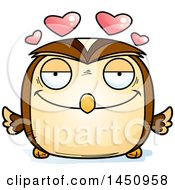 Clipart Graphic Of A Cartoon Loving Owl Character Mascot Royalty Free Vector Illustration by Cory Thoman