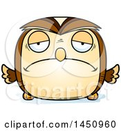 Clipart Graphic Of A Cartoon Sad Owl Character Mascot Royalty Free Vector Illustration by Cory Thoman