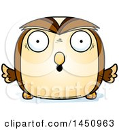 Clipart Graphic Of A Cartoon Surprised Owl Character Mascot Royalty Free Vector Illustration