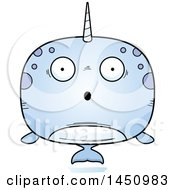 Clipart Graphic Of A Cartoon Surprised Narwhal Character Mascot Royalty Free Vector Illustration