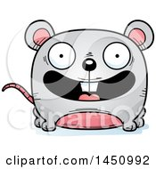Clipart Graphic Of A Cartoon Happy Mouse Character Mascot Royalty Free Vector Illustration