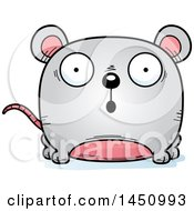 Clipart Graphic Of A Cartoon Surprised Mouse Character Mascot Royalty Free Vector Illustration