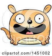 Clipart Graphic Of A Cartoon Happy Kangaroo Character Mascot Royalty Free Vector Illustration by Cory Thoman