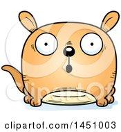 Clipart Graphic Of A Cartoon Surprised Kangaroo Character Mascot Royalty Free Vector Illustration