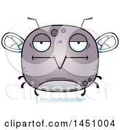 Clipart Graphic Of A Cartoon Bored Mosquito Character Mascot Royalty Free Vector Illustration
