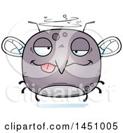 Clipart Graphic Of A Cartoon Drunk Mosquito Character Mascot Royalty Free Vector Illustration