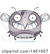 Clipart Graphic Of A Cartoon Grinning Mosquito Character Mascot Royalty Free Vector Illustration