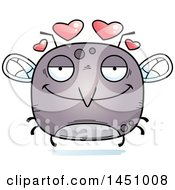 Clipart Graphic Of A Cartoon Loving Mosquito Character Mascot Royalty Free Vector Illustration