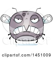 Clipart Graphic Of A Cartoon Mad Mosquito Character Mascot Royalty Free Vector Illustration