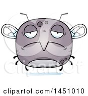Clipart Graphic Of A Cartoon Sad Mosquito Character Mascot Royalty Free Vector Illustration