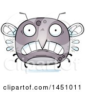 Clipart Graphic Of A Cartoon Scared Mosquito Character Mascot Royalty Free Vector Illustration