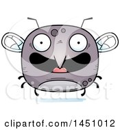 Clipart Graphic Of A Cartoon Happy Mosquito Character Mascot Royalty Free Vector Illustration