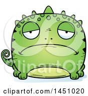 Clipart Graphic Of A Cartoon Sad Lizard Character Mascot Royalty Free Vector Illustration by Cory Thoman