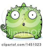 Clipart Graphic Of A Cartoon Surprised Lizard Character Mascot Royalty Free Vector Illustration