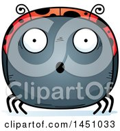 Clipart Graphic Of A Cartoon Surprised Ladybug Character Mascot Royalty Free Vector Illustration