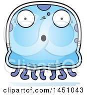 Clipart Graphic Of A Cartoon Surprised Jellyfish Character Mascot Royalty Free Vector Illustration by Cory Thoman