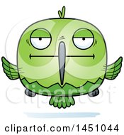 Clipart Graphic Of A Cartoon Bored Hummingbird Character Mascot Royalty Free Vector Illustration by Cory Thoman