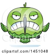 Clipart Graphic Of A Cartoon Mad Hummingbird Character Mascot Royalty Free Vector Illustration by Cory Thoman