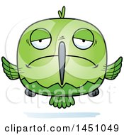 Clipart Graphic Of A Cartoon Sad Hummingbird Character Mascot Royalty Free Vector Illustration by Cory Thoman