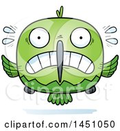 Clipart Graphic Of A Cartoon Scared Hummingbird Character Mascot Royalty Free Vector Illustration by Cory Thoman
