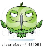 Clipart Graphic Of A Cartoon Sly Hummingbird Character Mascot Royalty Free Vector Illustration by Cory Thoman