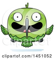 Clipart Graphic Of A Cartoon Happy Hummingbird Character Mascot Royalty Free Vector Illustration