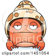 Clipart Graphic Of A Cartoon Bored Hermit Crab Character Mascot Royalty Free Vector Illustration