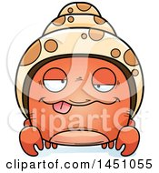 Clipart Graphic Of A Cartoon Drunk Hermit Crab Character Mascot Royalty Free Vector Illustration by Cory Thoman