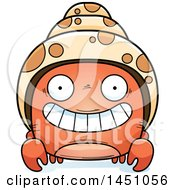 Clipart Graphic Of A Cartoon Grinning Hermit Crab Character Mascot Royalty Free Vector Illustration by Cory Thoman