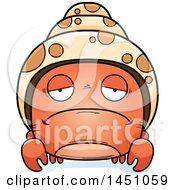 Clipart Graphic Of A Cartoon Sad Hermit Crab Character Mascot Royalty Free Vector Illustration
