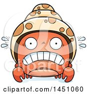 Clipart Graphic Of A Cartoon Scared Hermit Crab Character Mascot Royalty Free Vector Illustration by Cory Thoman