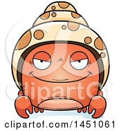 Clipart Graphic Of A Cartoon Sly Hermit Crab Character Mascot Royalty Free Vector Illustration by Cory Thoman