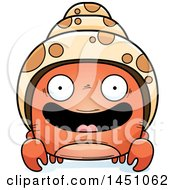 Clipart Graphic Of A Cartoon Happy Hermit Crab Character Mascot Royalty Free Vector Illustration by Cory Thoman