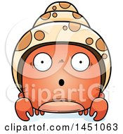 Clipart Graphic Of A Cartoon Surprised Hermit Crab Character Mascot Royalty Free Vector Illustration