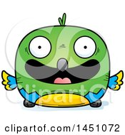 Clipart Graphic Of A Cartoon Happy Parrot Bird Character Mascot Royalty Free Vector Illustration by Cory Thoman