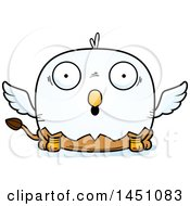 Clipart Graphic Of A Cartoon Surprised Griffin Character Mascot Royalty Free Vector Illustration