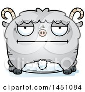 Clipart Graphic Of A Cartoon Bored Goat Character Mascot Royalty Free Vector Illustration