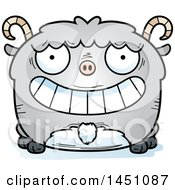 Clipart Graphic Of A Cartoon Grinning Goat Character Mascot Royalty Free Vector Illustration
