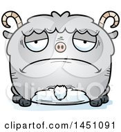 Clipart Graphic Of A Cartoon Sad Goat Character Mascot Royalty Free Vector Illustration